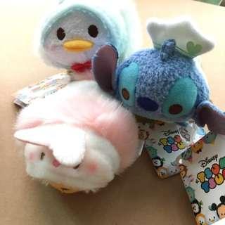 日本迪士尼商店 TsumTsum 滋姆滋姆 S號玩偶娃娃 維尼 鴨鴨 史迪奇 復活節限定 手掌大小
