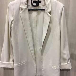 Blazer Putih Gading H&M Ori