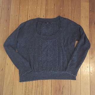 Sportsgirl Charcoal Grey Knit Size S