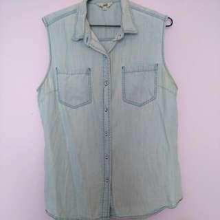 Jag - Sleeveless Denim Shirt