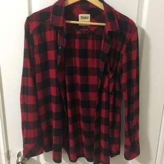 Aritzia Plaid Oversized Shirt