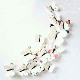 3 D PVC Butterfly wall Decals/stickers