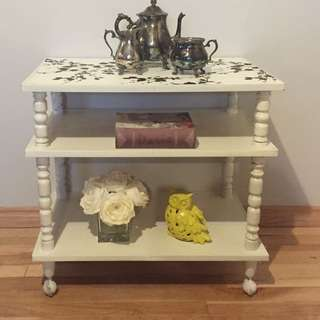 Refinished Shabby Chic tea Cart