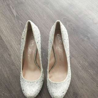 Betts Size 36 Glitter Dress Heels