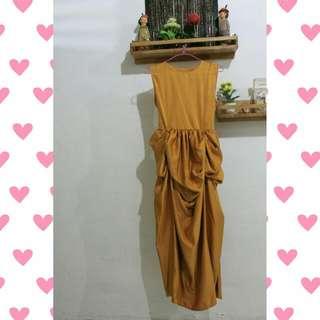 Cinderella Dress MUSTARD / MAROON