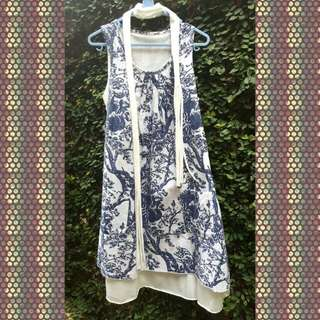 Casual Dress Floral Blue