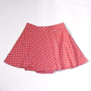 Aeropostale Polka Dotted Skater Skirt