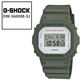 Original Casio G-SHOCK DW-5600M-3JF Army Military Green