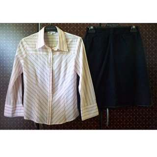 Set: Longsleeves and Black Skirt