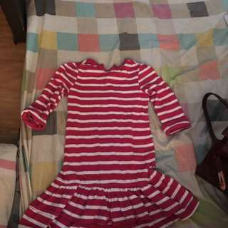 Gap Kis Pink Stripe Dress 4-5y/o