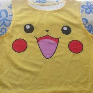 Pokemon Pikachu cute yellow crop top XS
