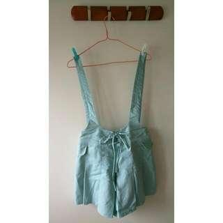 🚚 水藍吊帶褲裙 #百元全新女裝