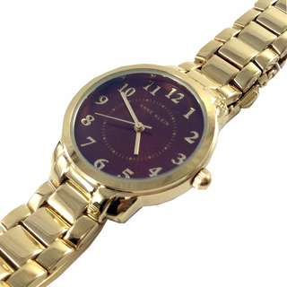 NEW AND AUTHENTIC ANNE KLEIN WOMEN'S AK/2544 GDRD GOLD TONE WATCH