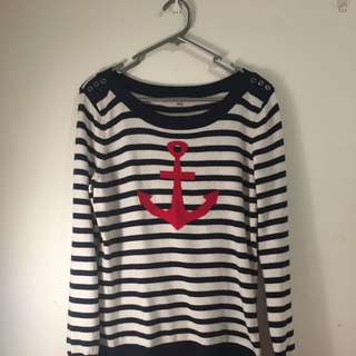Striped Review Knit Pullover