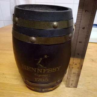 Vintage Hennessy Barrel Save Box