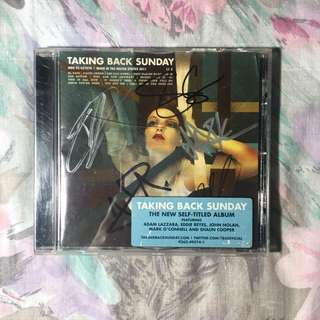 Taking Back Sunday Self-Titled Album (Signed)