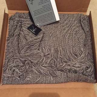 Stansborough Grey Pure Wool Scarf