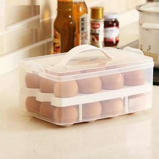 Hand Carry Egg Storage Container        [Storage Of 24pcs]