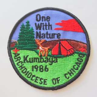 Retro 1980's Scout Badges, Rare Military Patches, Vintage Collectibles, One Nation, Kumbaya 1986, Archdiocese of Chicago, from USA, Limited Edition