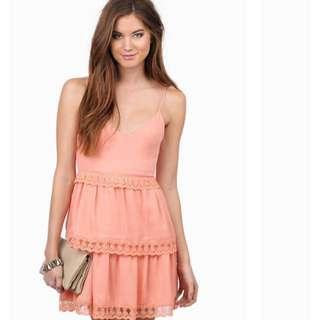 Tobi Cross Back Lace Up Dress