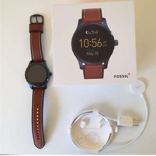 fossil SMARTWATCH - Q MARSHAL BROWN LEATHER