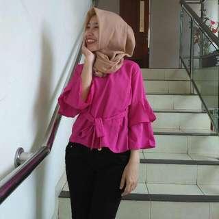 Blouse Pink Fuchsia