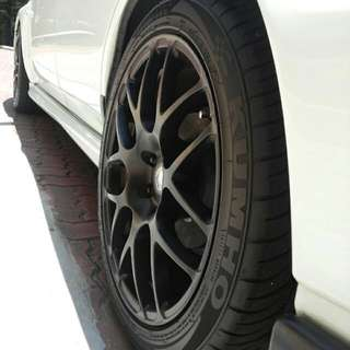 1set of 17 Inch HRE replica 5x100 RIMS with KUMHO KU31 215/45R17 Tyres. Still Avaliable!