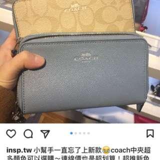 正品outlet Coach 中夾皮夾代購~