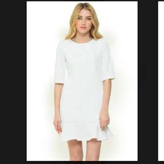 White dress look boutique store