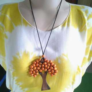 Kalung Pohon Orange