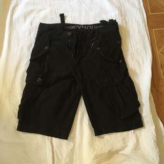 Men's Industrie Cargo Black Size 28