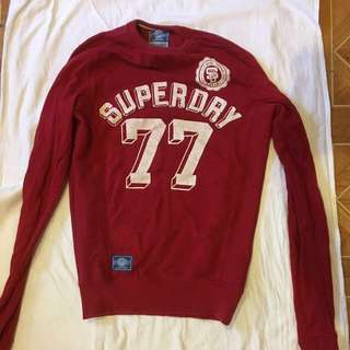Superdry Men's Long Sleeve Sweat Red Size S