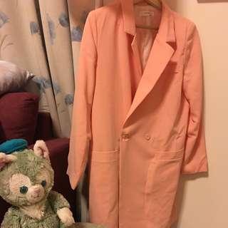 💯韓*粉色春款西裝外套
