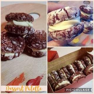 Red Velvet Crinkles w/ White Chocolate Cream Cheese Filling