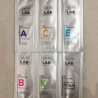 Skin & Lab Facial Products Samples