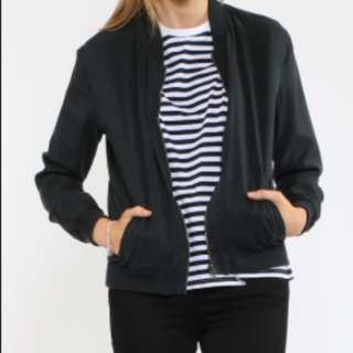Black Bomber Jacket (All About Eve)