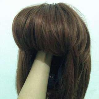 Wig Bob coklat Impor