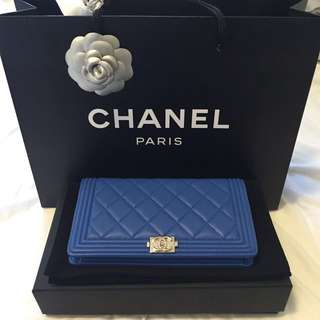 100% Authentic Chanel Boy Wallet