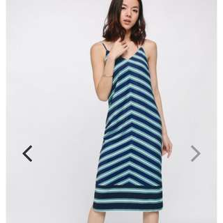 Chevron Striped Camisole Dress