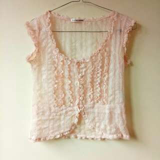 Pink Lace Top / Blouse