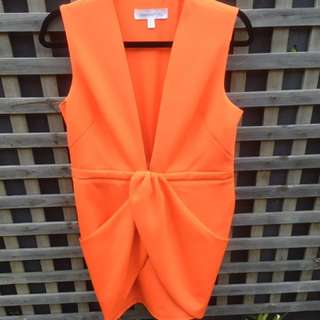 Finders Keepers Size L Orange Dress