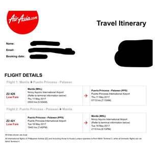 Repriced!!! Puerto prinsesa Palawan Tickets!