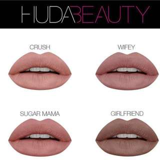 [INSTOCK] Huda Beauty Nude Love Collection Girlfriend Sugar Mama Crush Wifey Liquid Matte Authentic