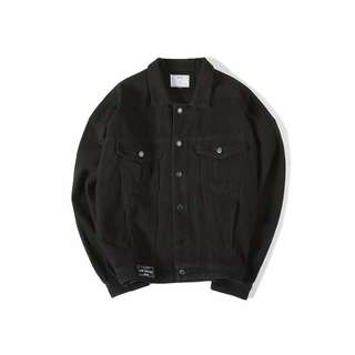 BJHG DENIM BLACK JACKET