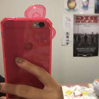 Pink See Through Hello Kitty iPhone 6/6s Case!!
