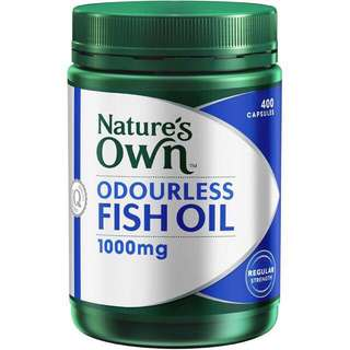 Nature's Own Odourless Fish Oil 1000mg 400's