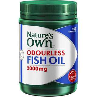 Nature's Own Odourless FISH OIL 2000mg 200's