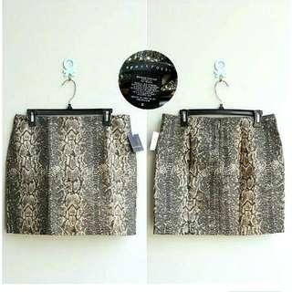 Skirt Apostrophe Snake Skin