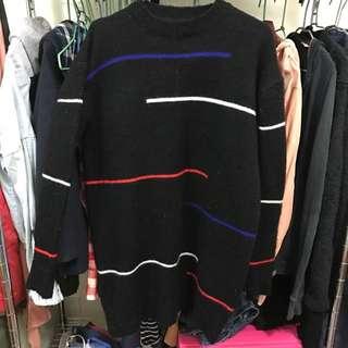 高領長版毛衣