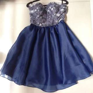 Prom Dress Strapless (Personal Design) Exclusive Elegant Blue